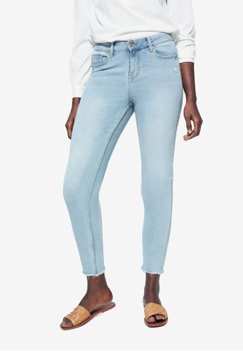 Violeta by MANGO blue Plus Size Super Slim Fit Andrea Jeans F8378AA5D5D324GS_1