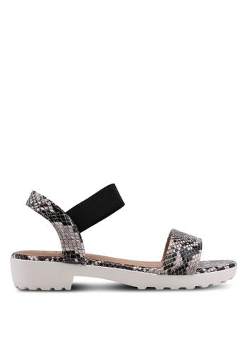 Carlton London black Printed Sandals CF87DSH982CE97GS_1