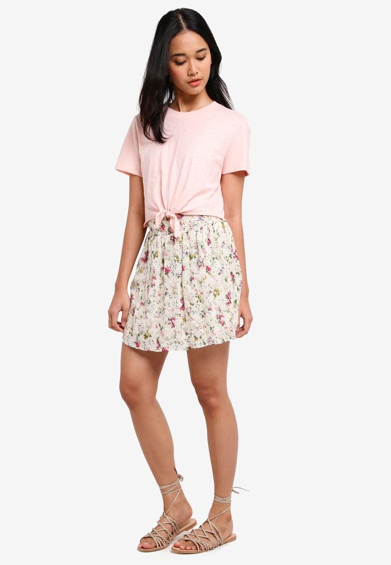 Skirt Mini TOPSHOP Ivory Broderie Print OSnwqvP