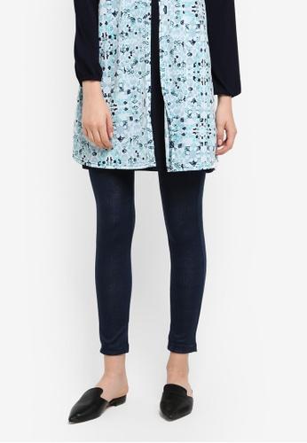 Zariya navy Checkered Print Long Pants 76AFBAA8515135GS_1