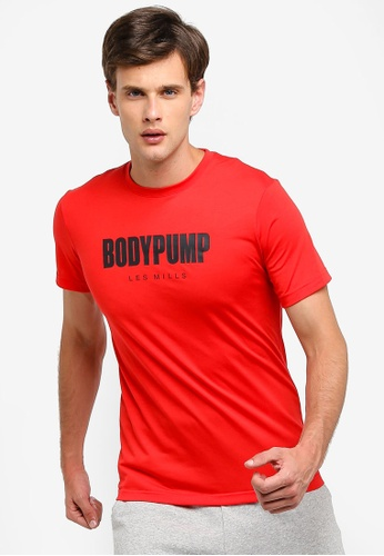 Reebok 紅色 Studio Les Mills Bodypump T恤 B4E8DAA40ECF7AGS_1