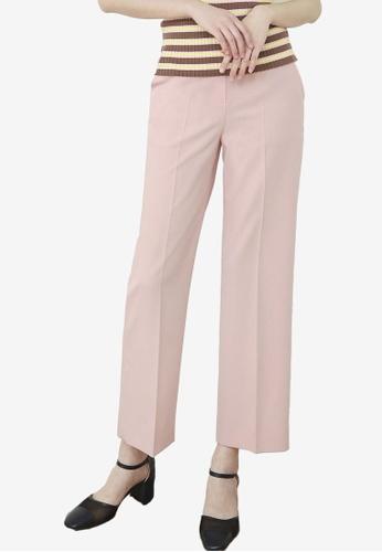 NAIN pink Cropped Pants 76FD9AAF93955CGS_1