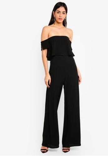 0ef1e1471bed Buy MISSGUIDED Bardot Wide Leg Jumpsuit Online on ZALORA Singapore