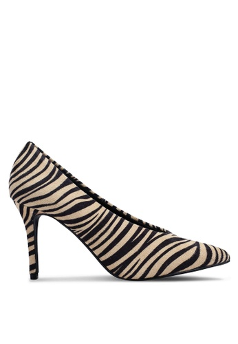 Dorothy Perkins 多色 Zebra Microfibre Gatsby Court Heels 51A98SHCA4AFC5GS_1