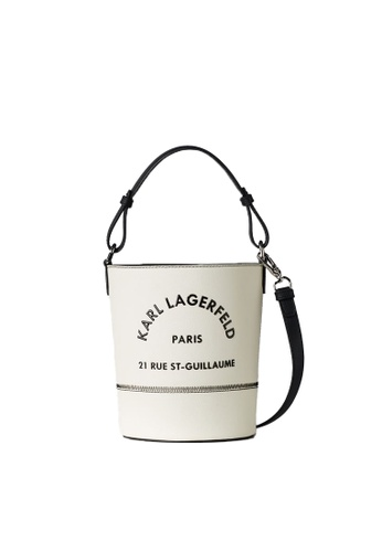 KARL LAGERFELD white Rue St Guillaume Bucket 27898AC7CF181EGS_1
