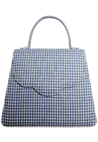 72 SMALLDIVE blue 72 Smalldive Womens Eco Wool Fabric Top Handle Handbag in Blue 2A835AC6508C7AGS_1