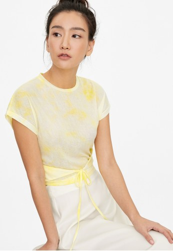 Pomelo yellow Loose Tie Dye Tee - Yellow 617FAAA3B90758GS_1