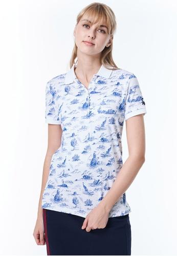 United Colors of Benetton white Printed Polo shirt A087BAA32C2FA0GS_1