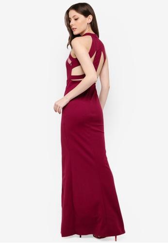 AX Paris purple Mesh Detailing Maxi Dress 4C63DAA62817CAGS_1