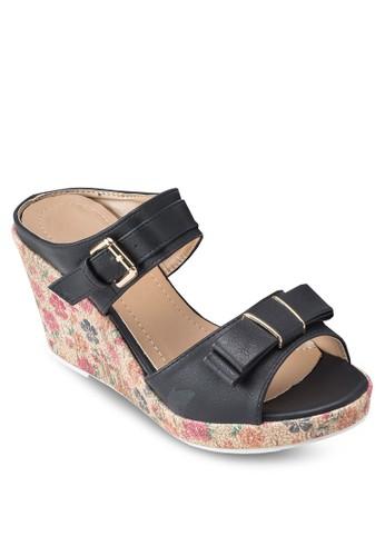 雙帶印花楔型鞋salon esprit 香港, 女鞋, 鞋