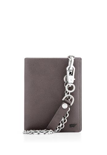 Braun Buffel grey Raznor Vertical Wallet with Coin in German Size 21D5EACEF07A91GS_1