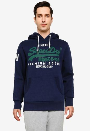 SUPERDRY blue Vintage Logo Hoodie - Original & Vintage 16430AA8591B7FGS_1