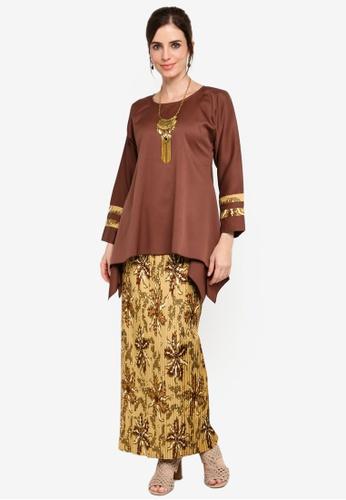 Melayu Manis Batik from Yans Creation in Brown