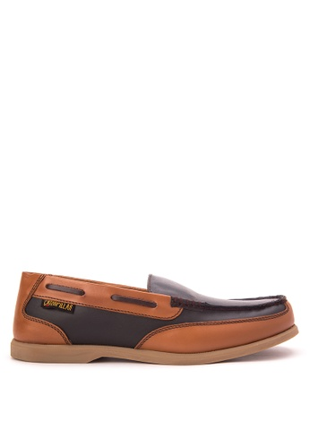 Caterpillar black and brown EDC 11 Loafers CA367SH73HYCPH_1