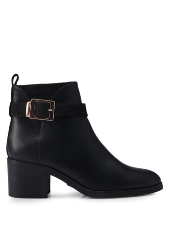River Island black Europe Block Buckle Detail Boot 95412SHA798208GS_1