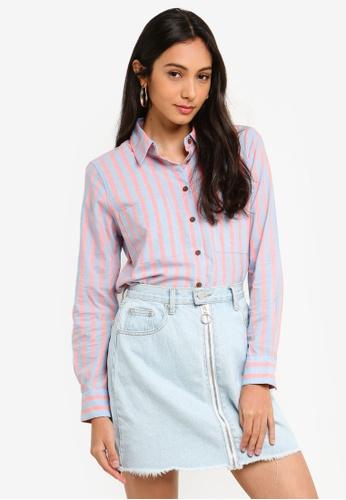 Glamorous blue and multi Pajama Shirt 9E1F5AA86A7AACGS_1
