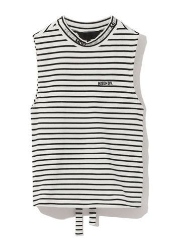 MUSIUM DIV white Stripe logo tank top 5680CAA5D27AE2GS_1