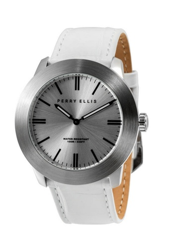 Perry Ellis silver Perry Ellis Slim Line Men 46mm Quartz Watch 03013-01 5E979AC95C81AEGS_1