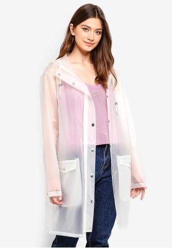 MbyM white Fabiola Raincoat 2F997AA753C3B6GS_1