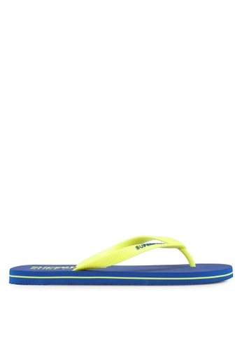 Superdry yellow and blue SUPERDRY SLEEK FLIP FLOP 27477SH3579713GS_1