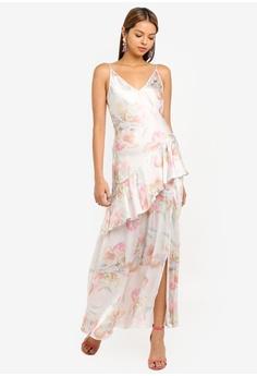 b59a794f735f Miss Selfridge white Ivory Floral Print Bias Frill Maxi Dress  AC03FAA7A3DBEDGS 1