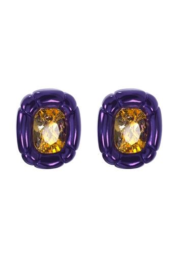 Swarovski purple Dulcis Clip Earrings 5A894AC271259EGS_1
