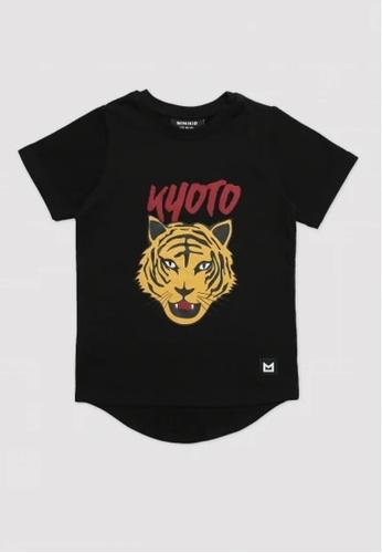 Ribbons+Wheels black Minikid Tiger T-Shirt 9F4AEKA76B7184GS_1