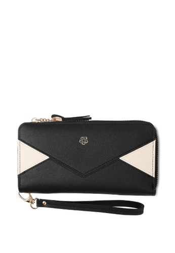 Wild Channel black Faux Leather Long Wallet 2FE9EAC7804CB8GS_1