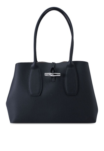 LONGCHAMP black Roseau Shoulder Bag (nt) 17BDDAC69A0621GS_1