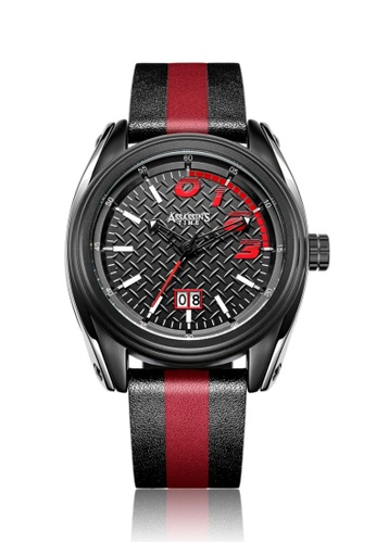 Assassin's Time black and red Assassin's Time RACE Black Red Leather FC443AC56FA1F4GS_1