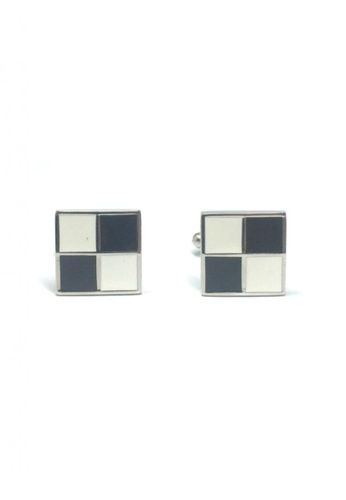 Splice Cufflinks black and white Black and White Squares Cufflinks   SP744AC52EFFSG_1