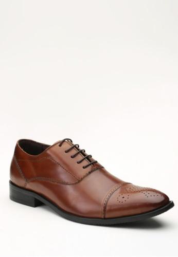 Kings Collection brown Lenox Oxford Shoes KI877SH10ZPLPH_1