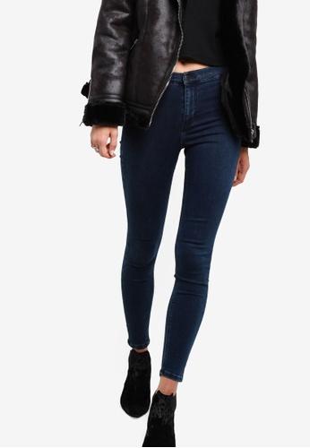 TOPSHOP blue Petite Indigo Joni Jeans TO412AA58HJHMY_1