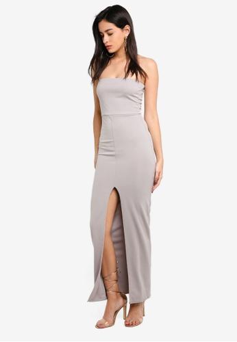 761632ed76a Shop MISSGUIDED Bandeau Split Front Maxi Dress Online on ZALORA Philippines