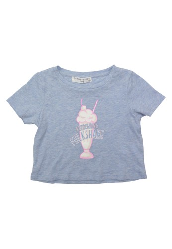 Gingersnaps Gingersnaps MINI CANDY PLAY T SHIRT  LT BLUE BAD4BKAB56D8ACGS_1
