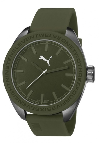 Puma green PU103731005 U-turn Olive PU Strap Men Watch PU549AC0RKKZMY_1