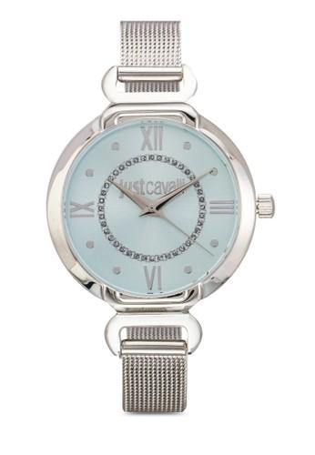 R7253526503 Hook J 網眼不銹鋼圓錶, 錶類, 飾品配zalora 手錶 評價件