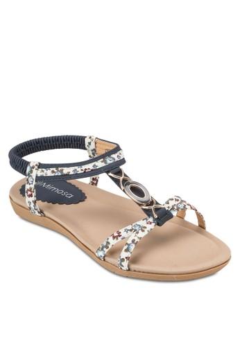 閃飾T 字彈性踝帶平esprit門市底涼鞋, 女鞋, 鞋