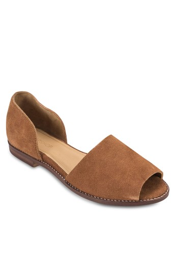 esprit 尖沙咀露趾側空平底鞋, 女鞋, 鞋