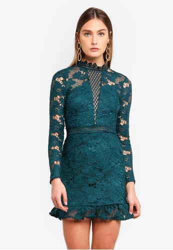 AX Paris blue Cut Out Detail Crochet Skater Dress 9C5B1AA3502CF3GS_1