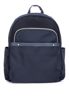 15860ca867c4 Giles N Brooks navy Hanbyul Nylon Backpack 57807ACB9D9373GS 1