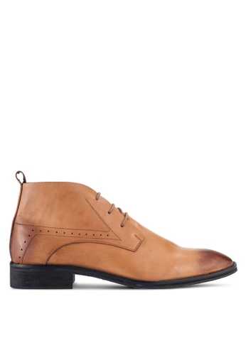 Acuto brown Leather Chukkas AC283SH20AHZMY_1