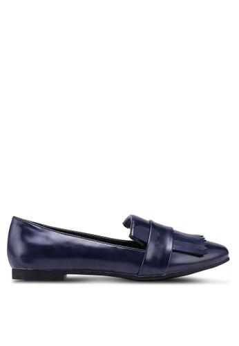 Something Borrowed blue Fringe Loafers 759DDSH7BB3EA2GS_1
