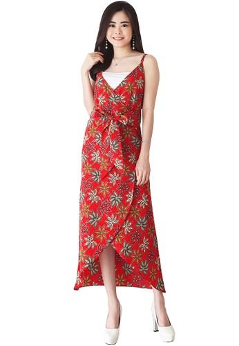 Flike Batik multi Middleton Dress Red Scoot D8B22AA7F2A96BGS_1