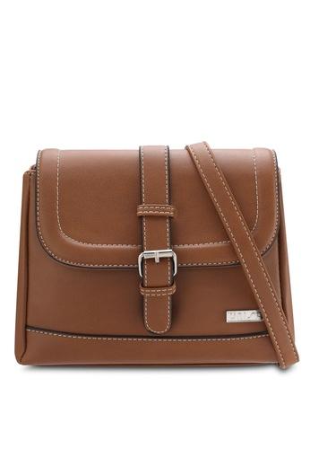 Unisa brown Faux Leather Sling Bag UN821AC71QTWMY_1