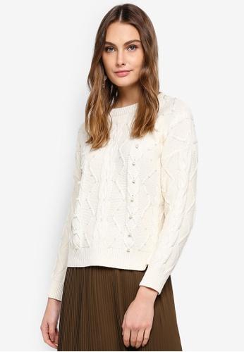 ESPRIT white Long Sleeve Sweater DFDD3AA22EDC26GS_1