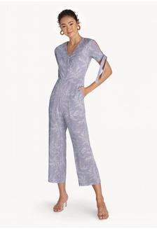 03ff50625d3 Slit Sleeve Surplice Jumpsuit - Lilac 5CE33AA4BD7A5EGS 1
