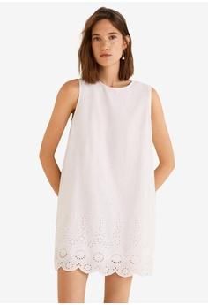 73ce9f231fd Mango white Embroidered Cotton Dress D1444AA10B463BGS 1