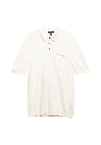 Banana Republic beige Texture Polo Shirt 2D9ADAAFEE3AE6GS_1