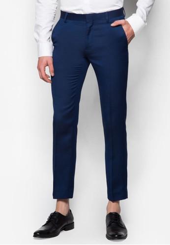 Navy Wool Blenesprit part timed Fit Suit Trousers, 服飾, 貼身版型